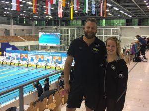 Antonia Berger mit Trainer Dirk Cuno DKM 2016