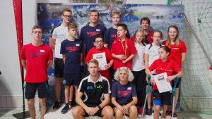 Das Team NRW mit den Landestrainern Marion Haas-Faller und Lukas Niedenzu